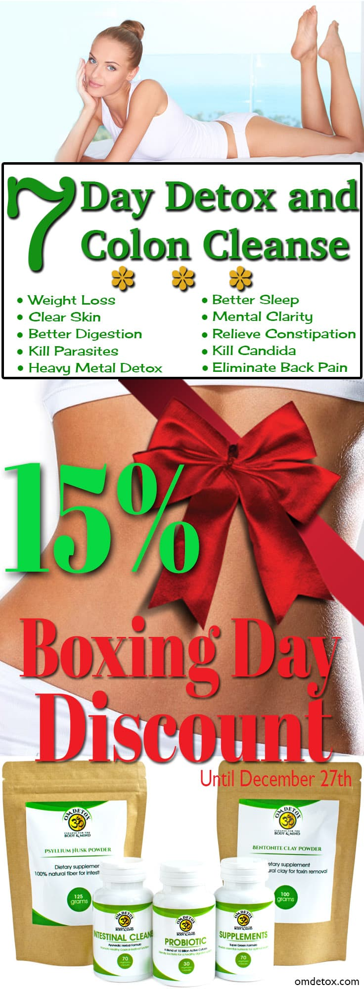 OmDetox 7 Day detox and Colon Cleanse Boxing Day Special
