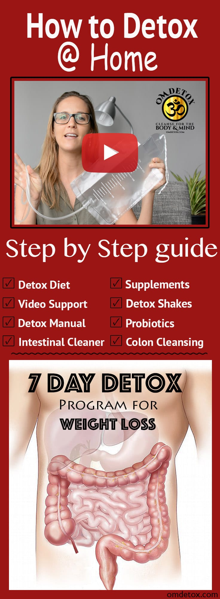 How to detox at home. Step by step 7 day detox program, Detox diet and Detox drinks