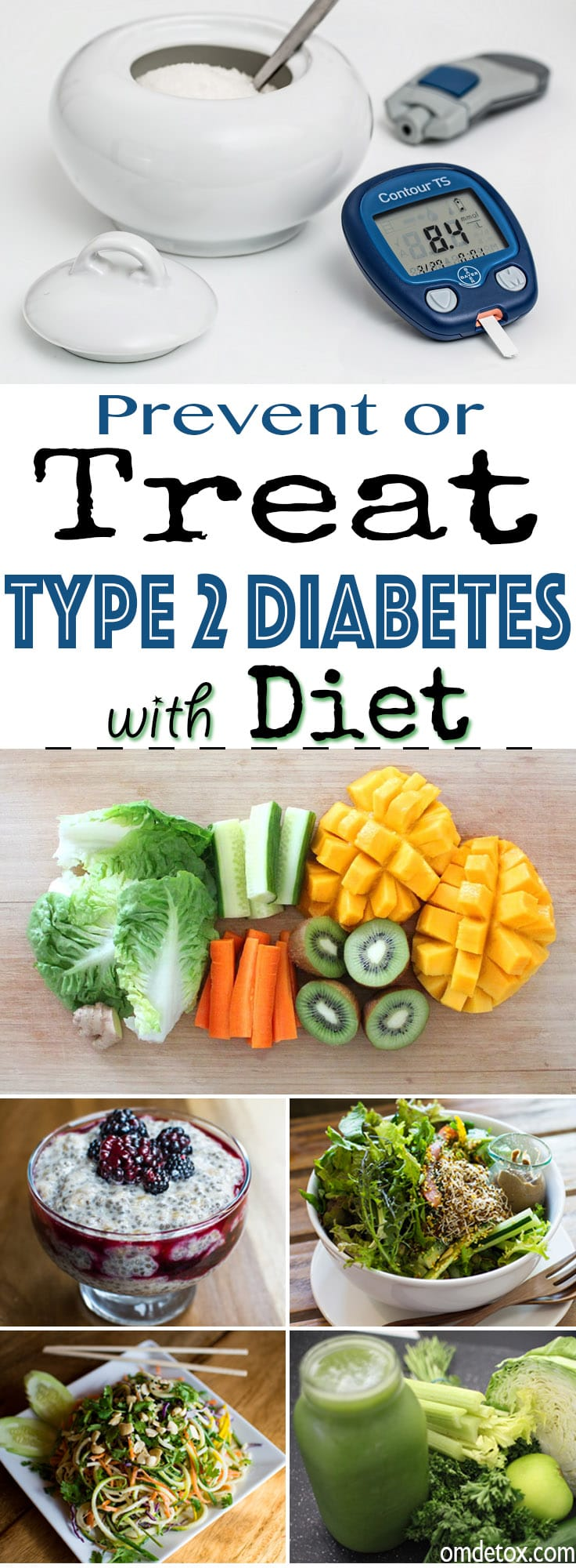 How to treat type 2 Diabetes with Diet. Yes you can treat Diabetes with food, discover how her. Milton did it, so can you.