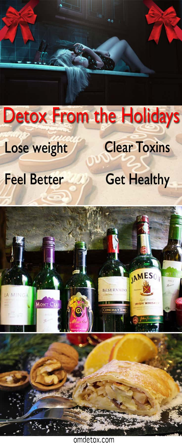 Holiday Detox in 5 easy steps! Easy weight loss program that will clear toxins and help digestion