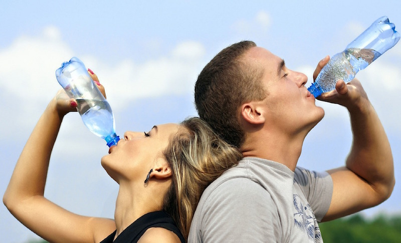 Drinking water can help relieve constipation