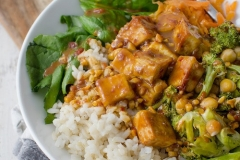 Peanut-tofu bowl