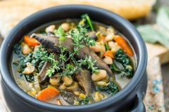 White bean-portobello stew
