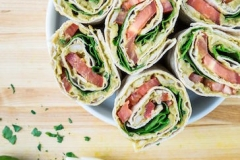 Avocado-white bean wrap