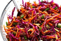 Asian quinoa slaw