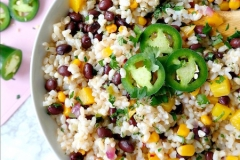 Rice black bean fiesta salad
