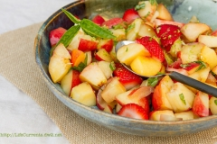 Basil fruit salad