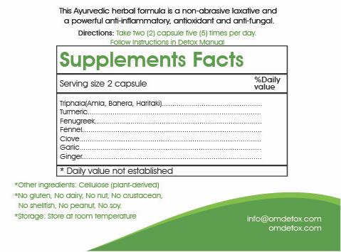 Om Detox organic herbal Intestinal Cleaner