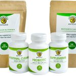 7 Day detox program with supplements, probiotics, intestinal cleaner, psyllium husk and bentonite clay
