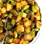 Plant-based nutrition -Roasted Potatoes and Brussels Sprouts