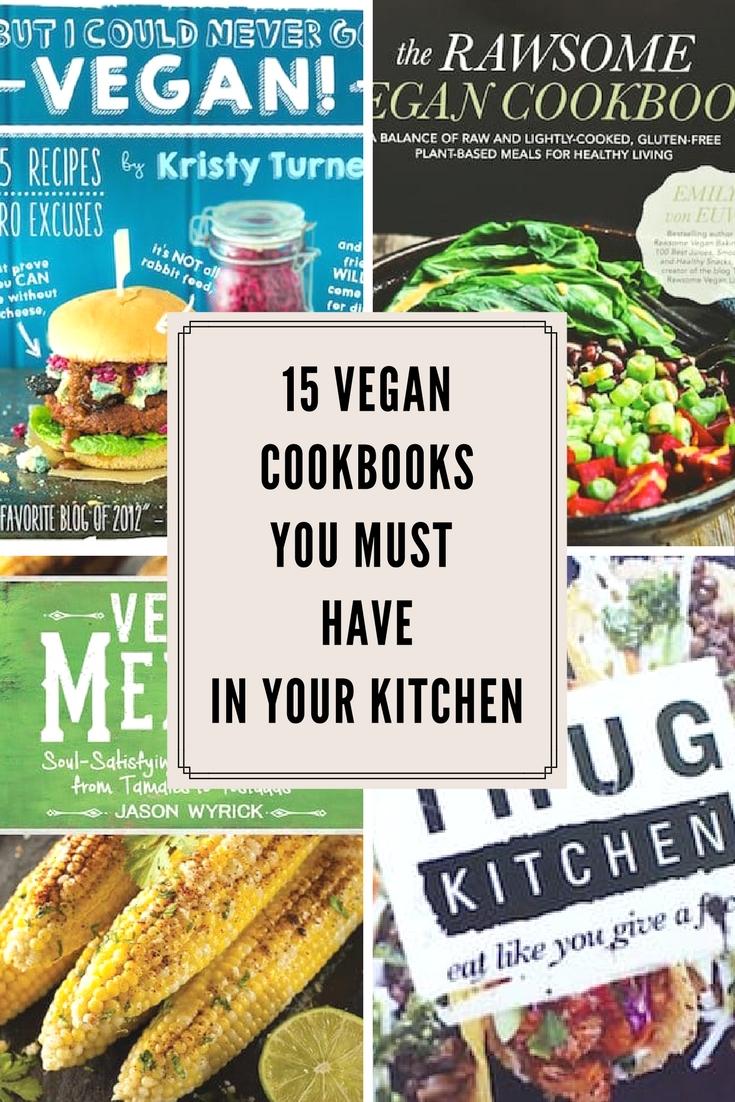 15 vegan cookbooks