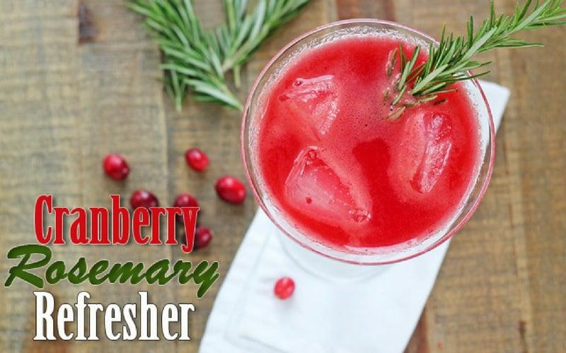 Mocktail recipes - cranberry rosemary Refresher