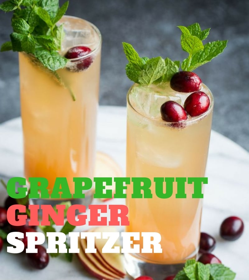 Mocktail recipes grapefruit spritzer