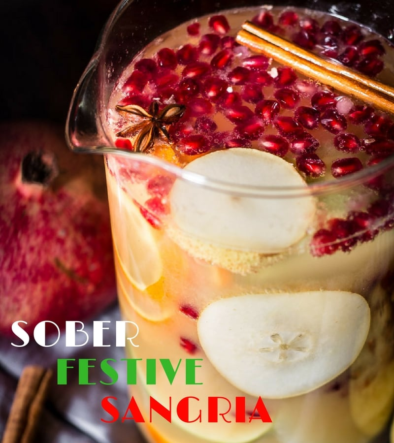 Mocktail recipes sober festive sangria