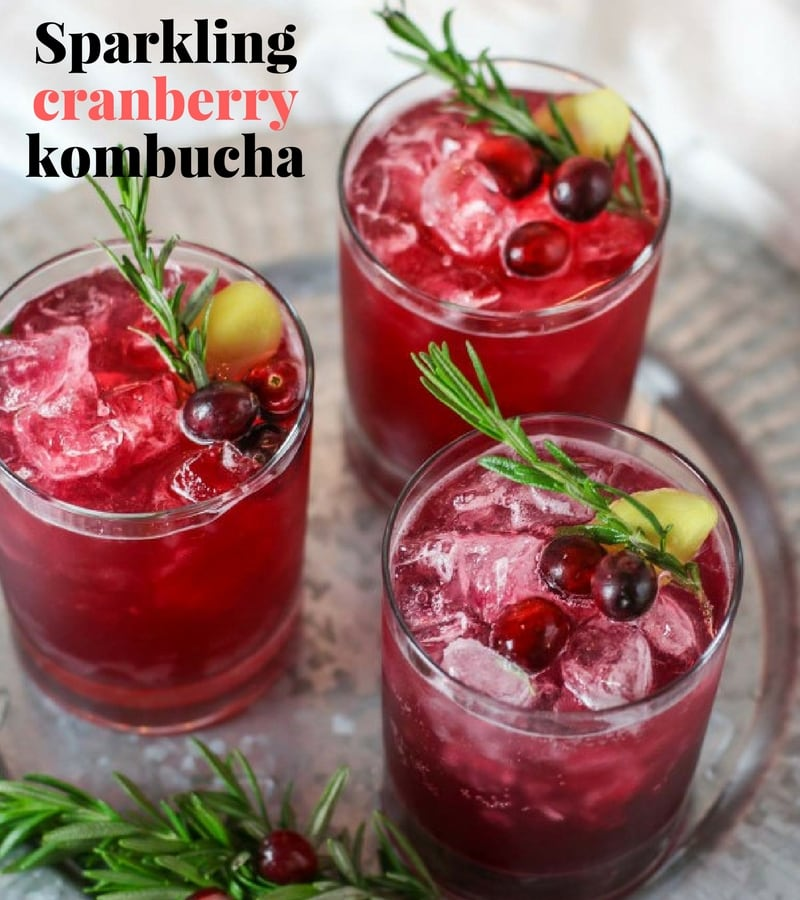 Unique Non alcoholic drinks cranberry Kombucha