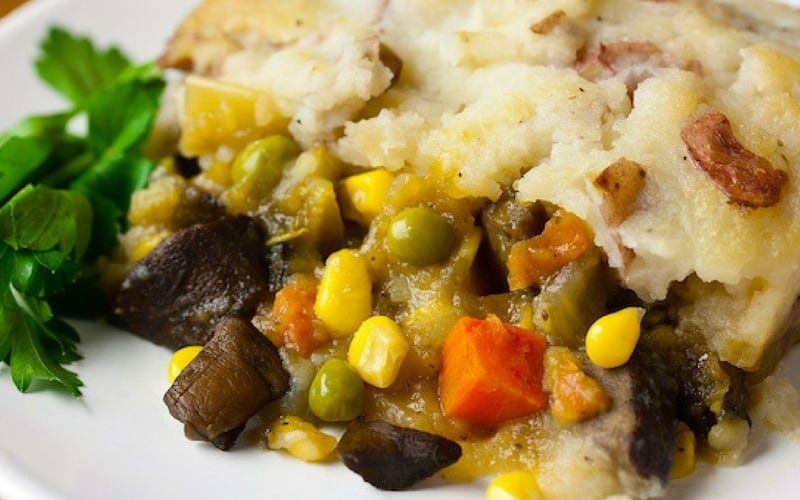 Vegan Christmas Recipes - Classic Veggie Shepherd's Pie