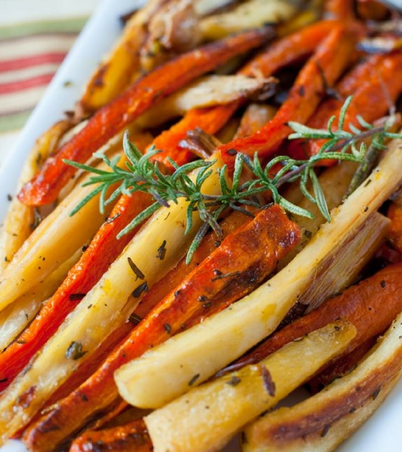 Vegan Christmas Recipes - Roasted Carrots and Parsnips