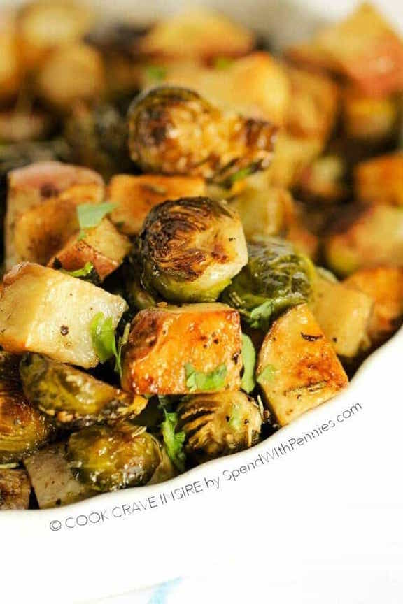 OMDetox Cancer Prevention - Roasted Potatoes & Brussels Sprouts