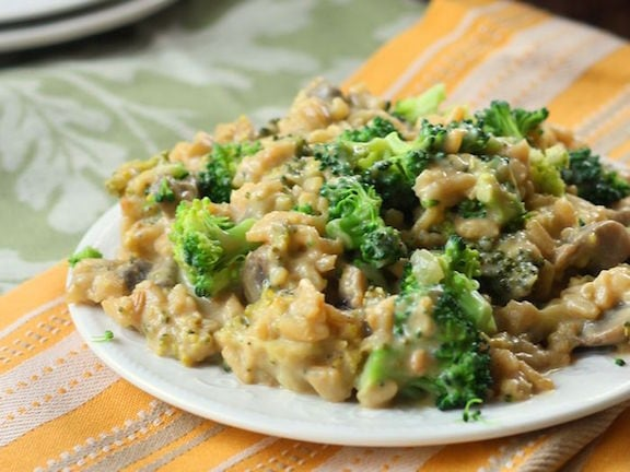 OMDetox Cancer Prevention - Vegan broccoli cheese casserole
