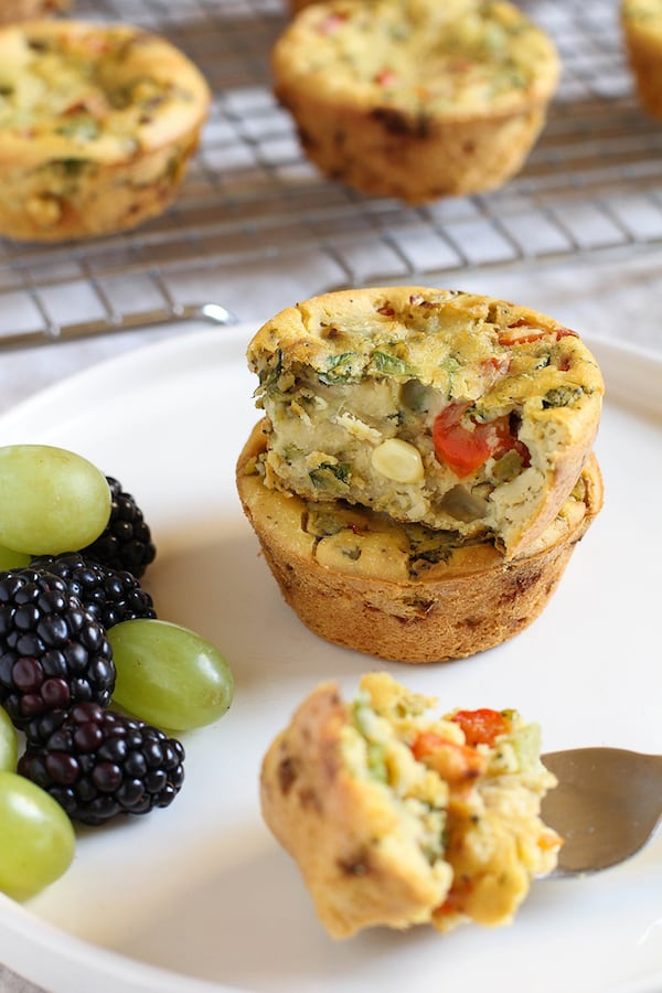 OMDetox Gluten-Free Vegan - Chickpea Flour Veggie Frittatas