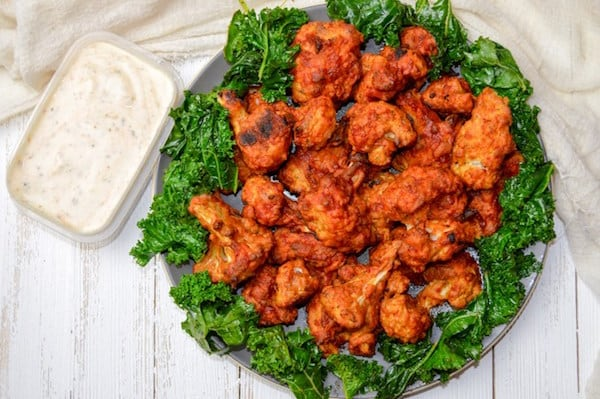 OMDetox Gluten-Free Vegan - Crispy Cauliflower Hot Wings