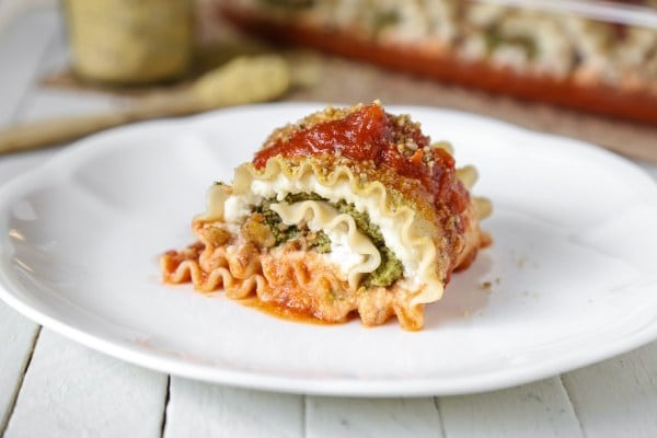 OMDetox Gluten-Free Vegan - Kale Pesto Lasagna Roll Ups