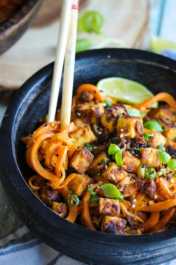 OMDetox Gluten-Free Vegan - Sesame Cashew Tofu Sweet Potato Noodles
