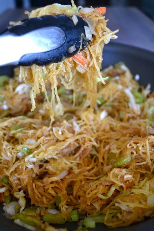 OMDetox Gluten-Free Vegan - Spaghatti Squash Chow Mein