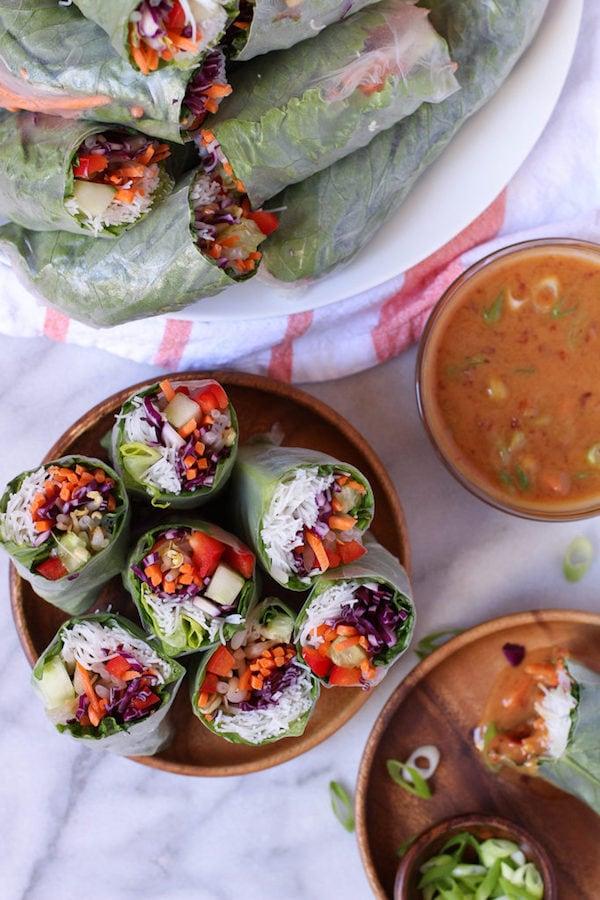 OMDetox Gluten-Free Vegan - Spring Rolls With Spicy Peanut Sauce