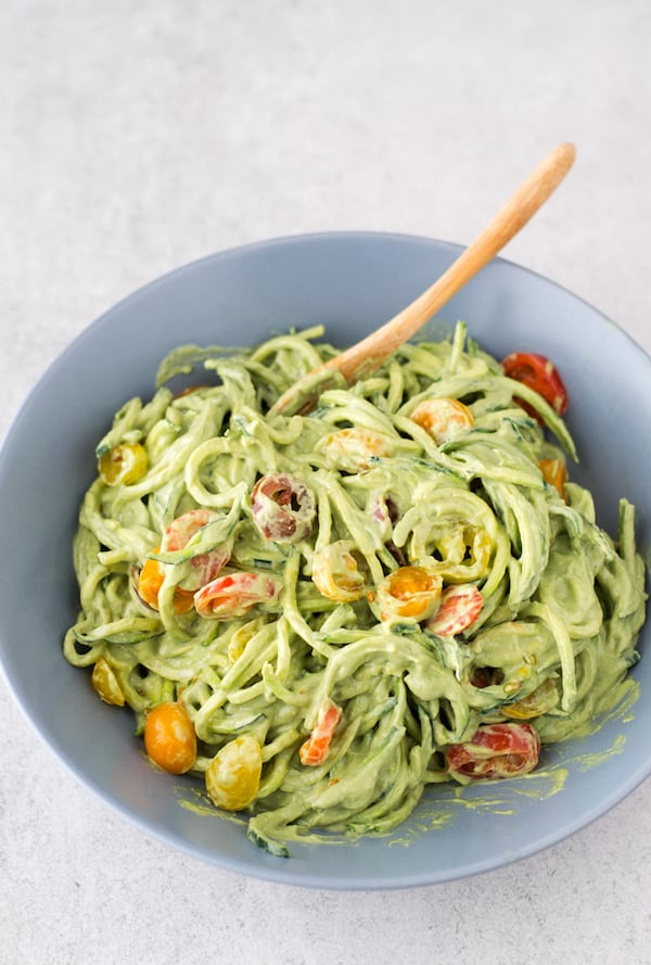 OMDetox Gluten-Free Vegan - Zucchini Noodles with Avocado Sauce