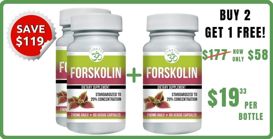 OM Detox Forskolin 3 bottles
