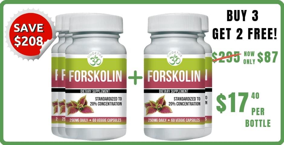OM Detox Forskolin 5 bottles