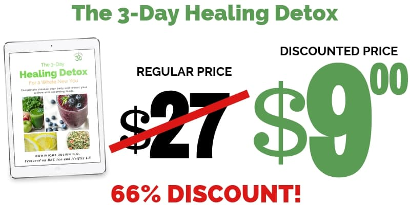 Om detox 3-day healing detox discounted price, $9.00 today, 66% discount