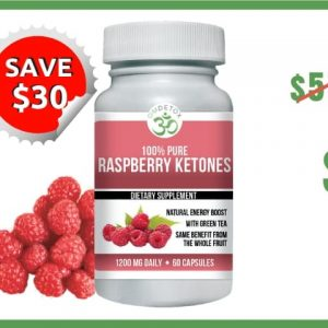 OM Detox raspberry ketones 1 bottle