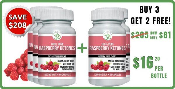 OM Detox raspberry ketones 5 bottles