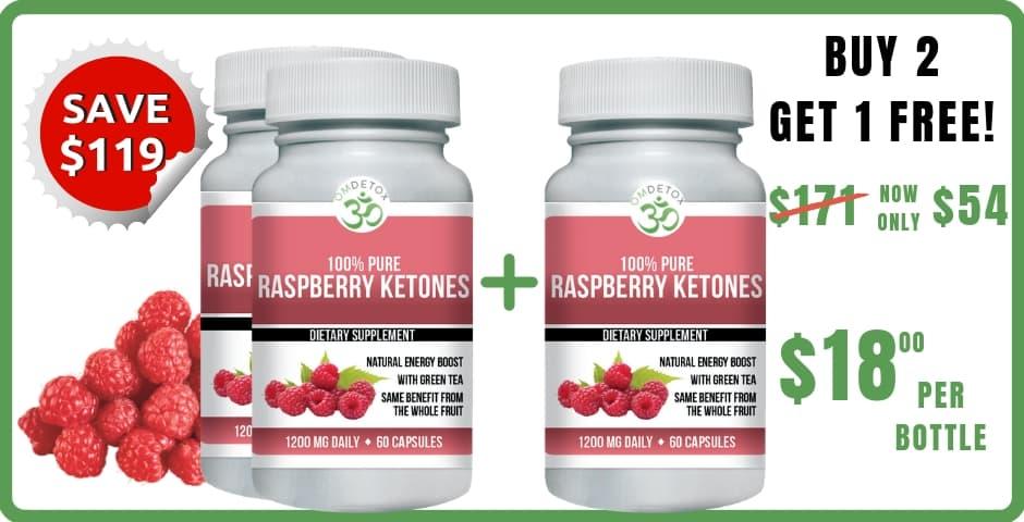 OM Detox raspberry ketones buy 2 get 1 free