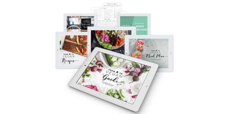 nutriciously a to vegan starter kit - ebooks