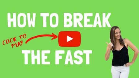 How to break the fast - click to watch video