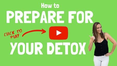 OM Detox video support: How to prepare for the detox - click to watch the video